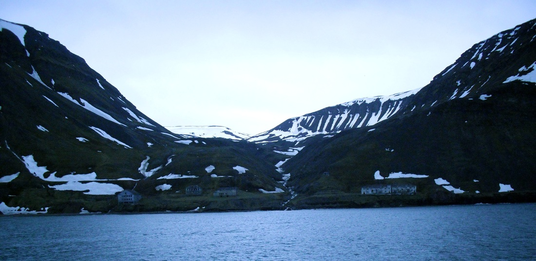 Grummant settlement seen from the water
